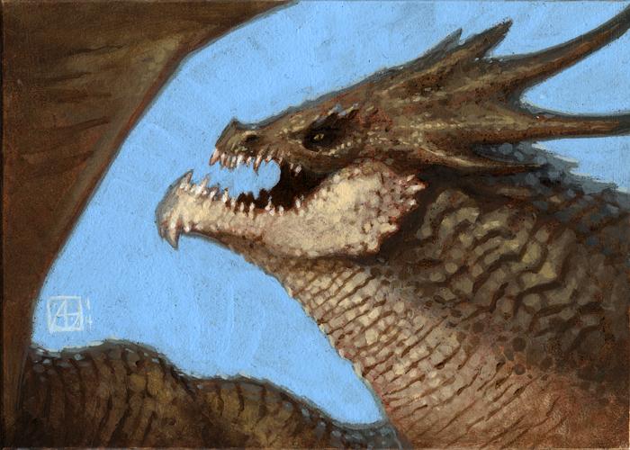 Dragon Study #3 by alexstoneart