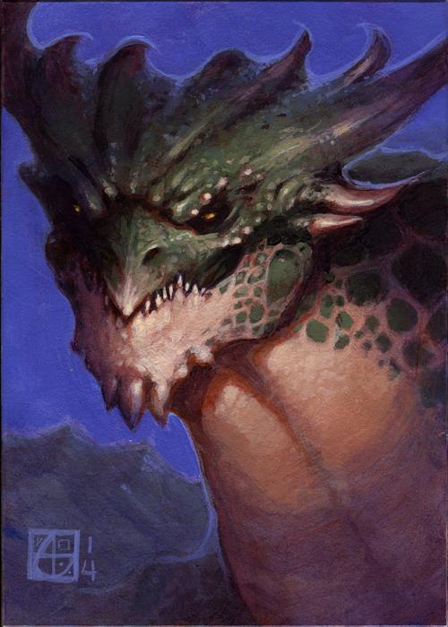 Dragon Study #4 by alexstoneart