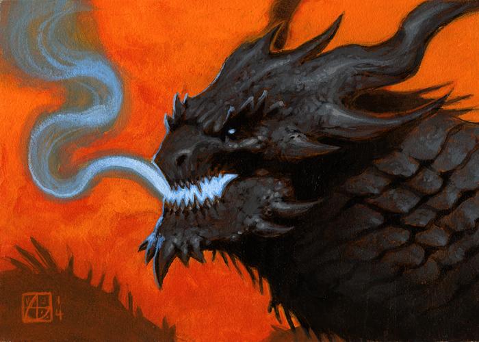 Dragon Study #6 by alexstoneart