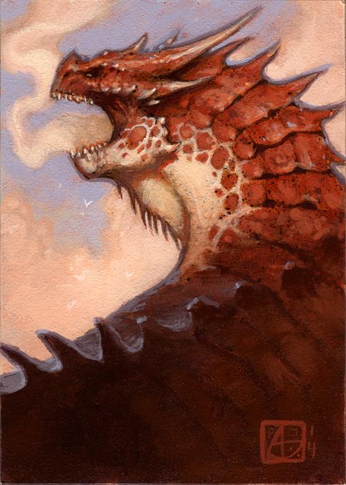 Dragon Study #7 by alexstoneart