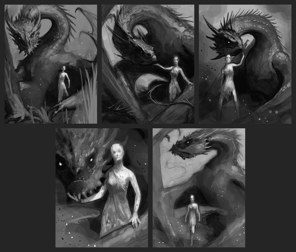 Daenerys Sketches by alexstoneart