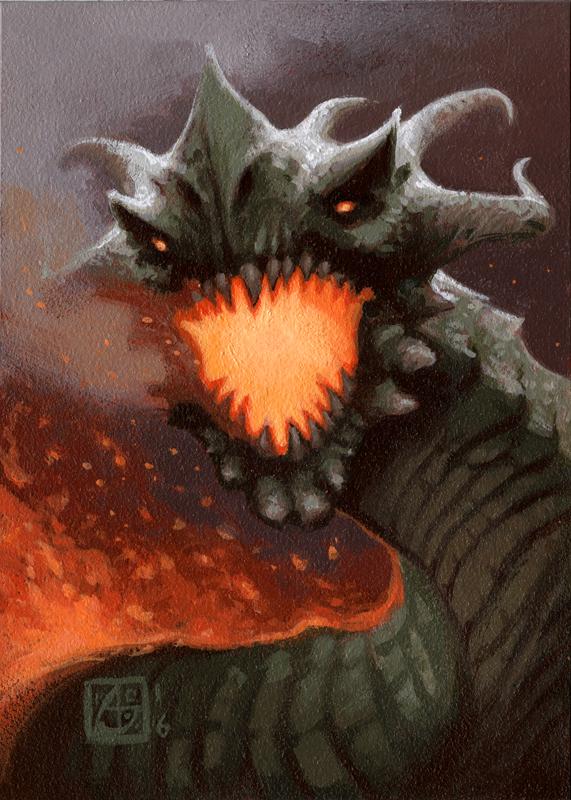 Dragon #9 by alexstoneart