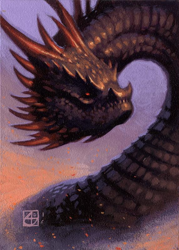 Dragon #10, Drogon by alexstoneart