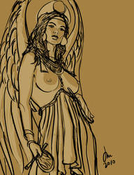 Weekly Sketch - Inanna by perkywren