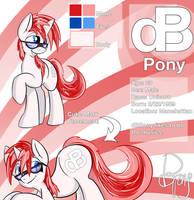 dBPony Reference Sheet by Matackable