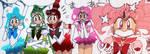 Chibimoon and Asteroid Senshi colored manga by LaMoonstar