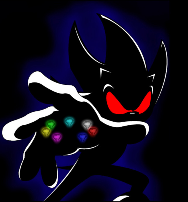 dark super sonic the hedgehog wallpaper