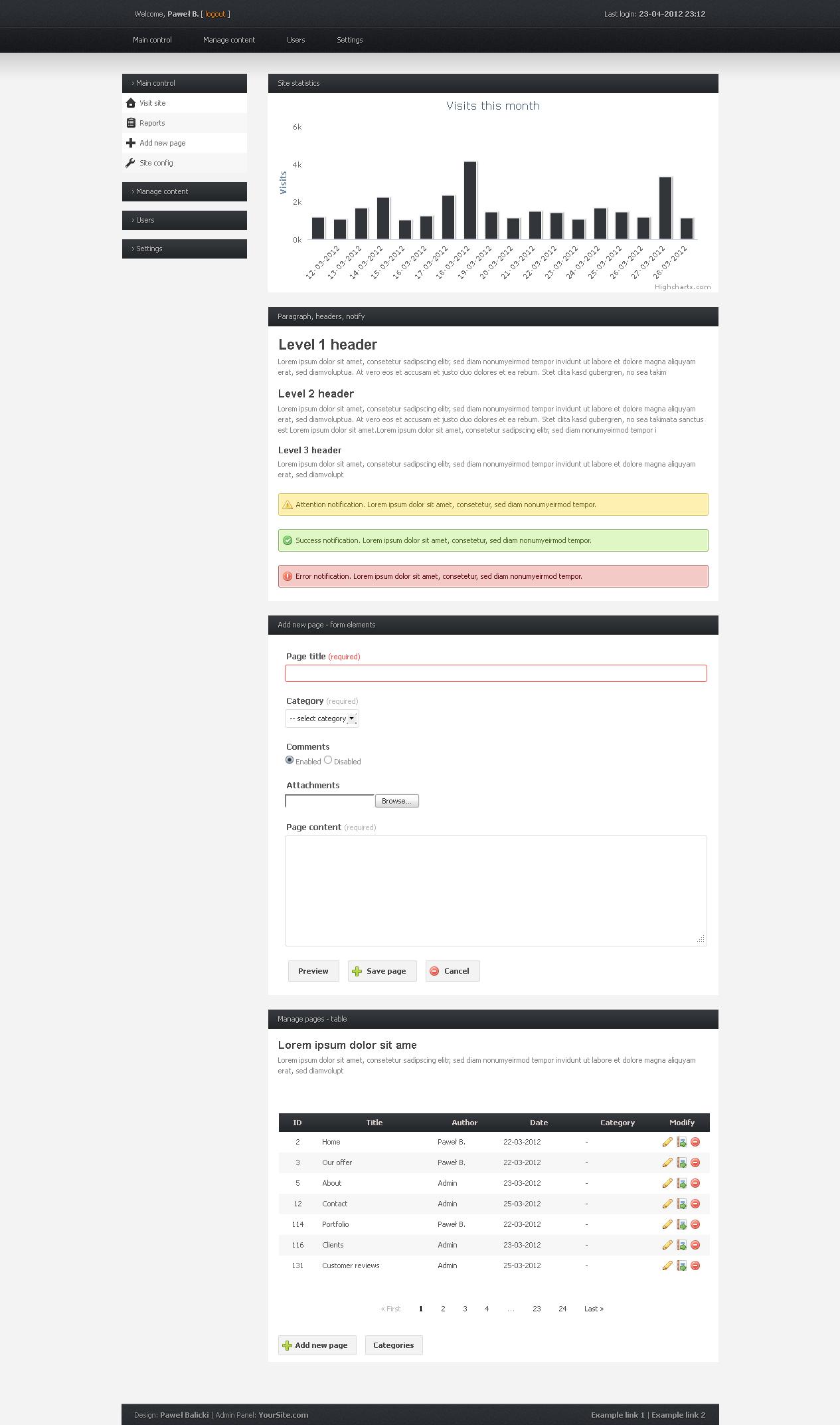 simpleadmin free admin panel template by kilab on deviantart. Black Bedroom Furniture Sets. Home Design Ideas