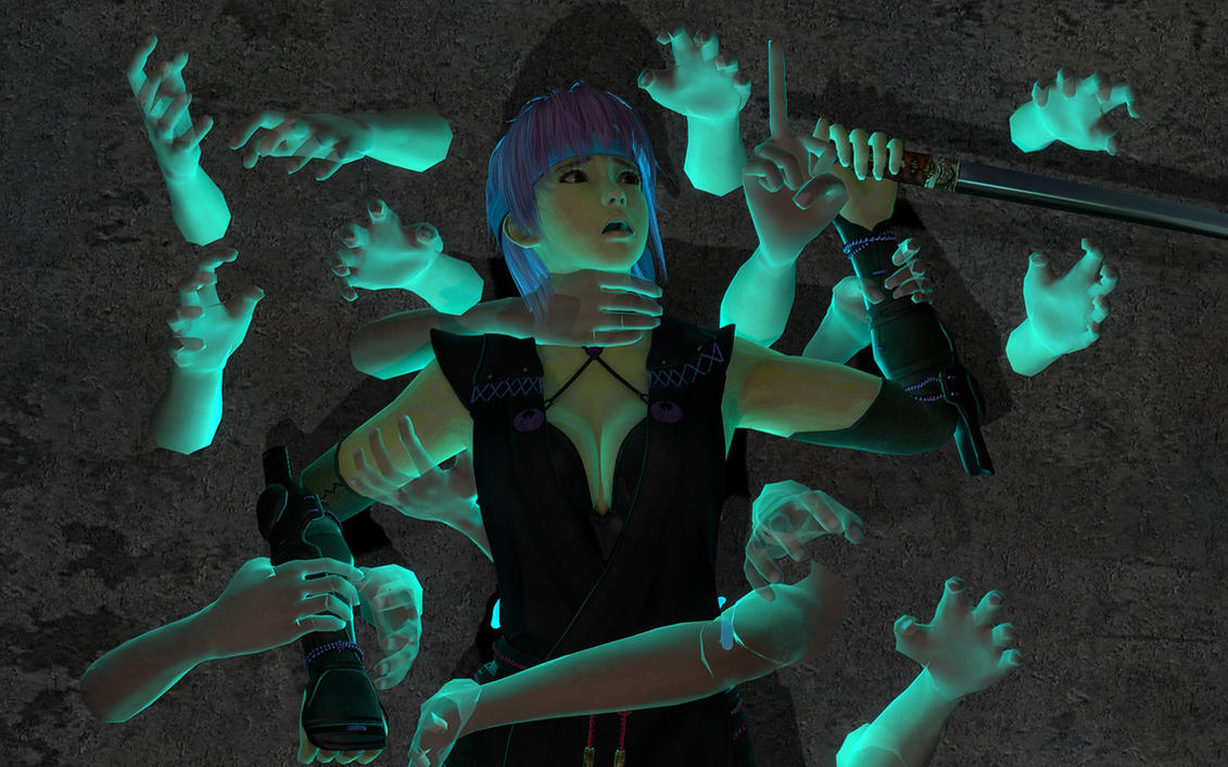 Ayane and Ghosts by mesa1995