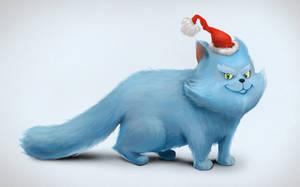 Christmas pussycat by ValeraPosmitniy