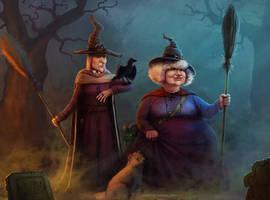 Discworld witches by ValeraPosmitniy