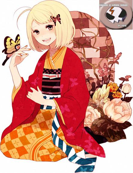 RENDER GIRL KIMONO by Alipuccia