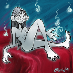 Ghostly Girl Awaits by Billified
