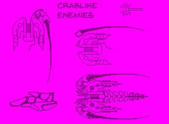Alien Enemy Ships 'Lobster-Horseshoe-Crab-Like' by Billified