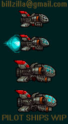 Pixel Game SHIPS WIP by Billified