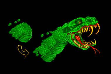 Enemy Snake Beast Sprite by Billified
