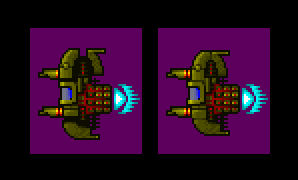 Pixel Game Golden Enemy Space Pod Sprite