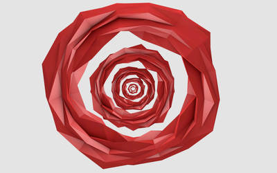 Abstract 3D Rose by A7md3mad