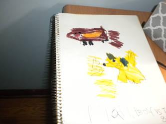 Dynamon battle drawing #4 by Flynnster-4590