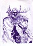 sketchy LORD O THE HUNT by goldbrandonium