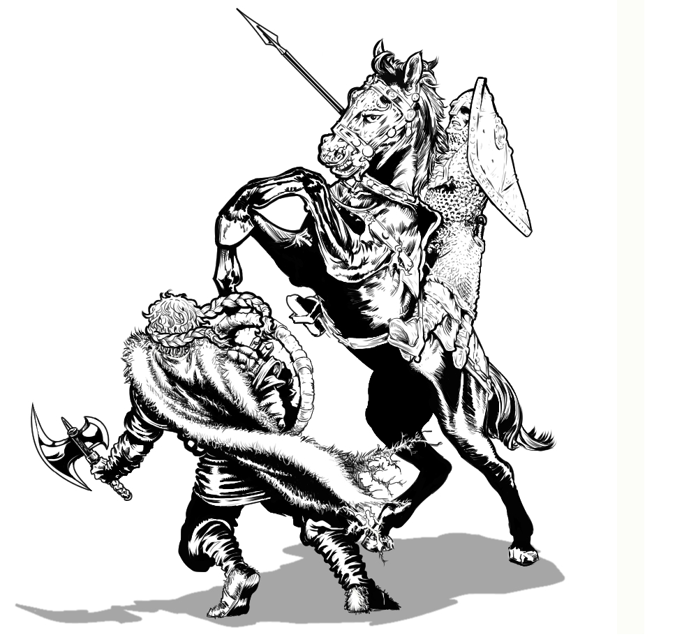 norman vs viking by goldbrandonium