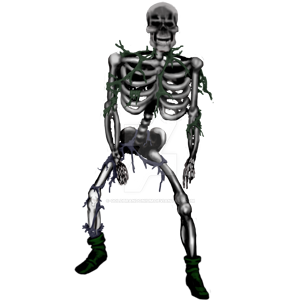 Skeleton by goldbrandonium