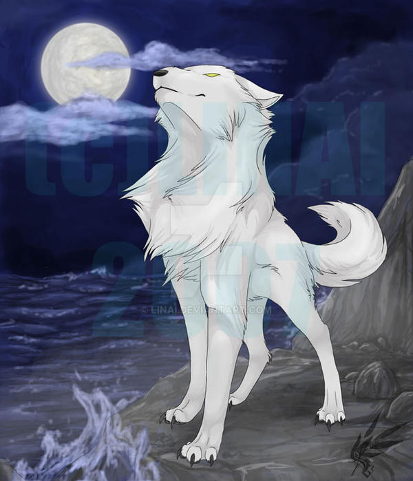 Black wolf with blue eyes drawing - photo#36