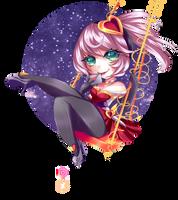 [CHIBI] Heartseeker Quinn by Frezitalove