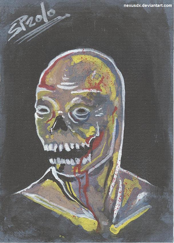 Zombie on Matte Board by NexusDX