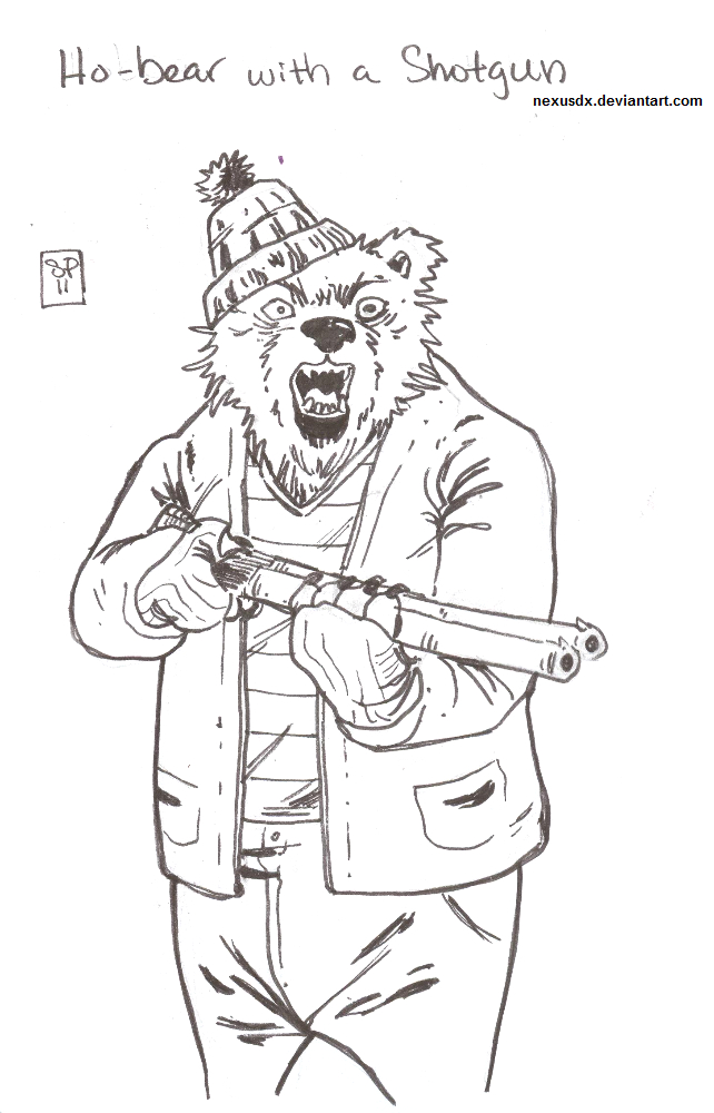 Ho-Bear With A Shotgun by NexusDX