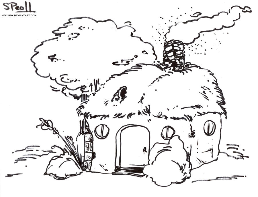 straw house coloring pages - photo#4