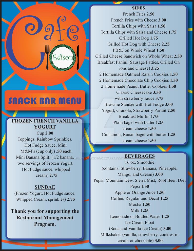 Menu for Cafe Edison, New York, NY - menupix.com
