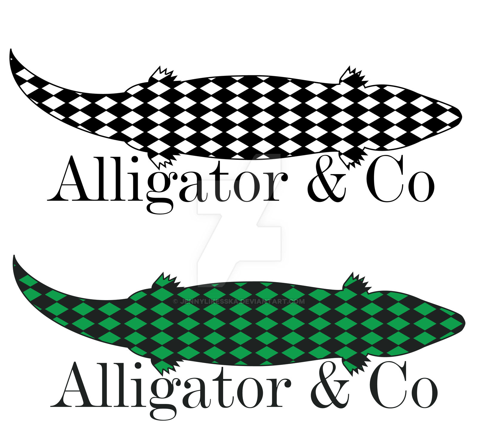 Alligator and Co Logo (b/w and color)