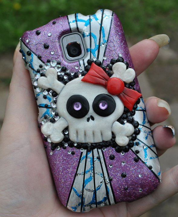 innovative design 8c056 7480a Girly Skull cell phone case decoration by MadamLuck on DeviantArt