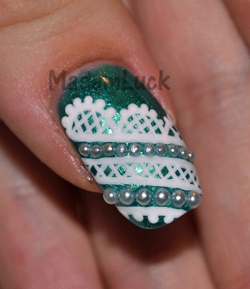 lace nail art by MadamLuck