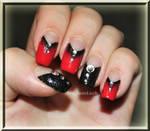 simiple True Blood inspired nail art