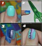 A different style of gradient nail art - tutorial