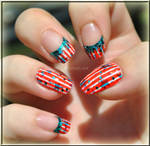 4th of July Nail Art + link to video tutorial