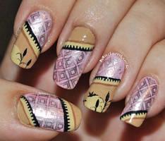 stamp nail art by MadamLuck