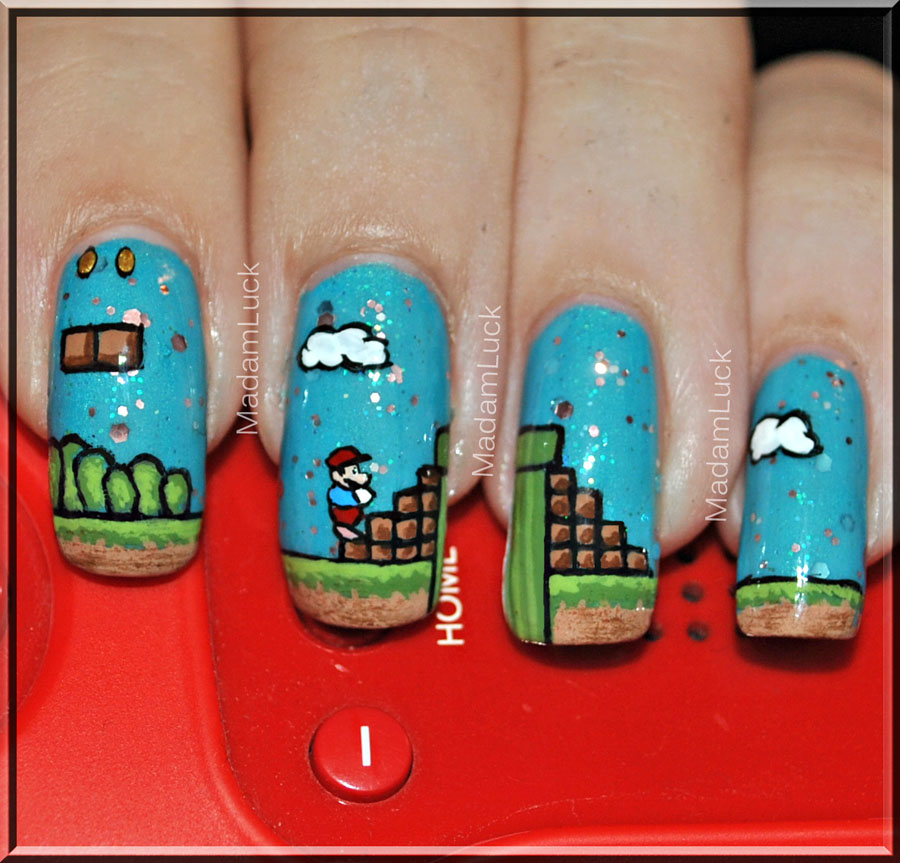 Super Mario Nail Art by MadamLuck