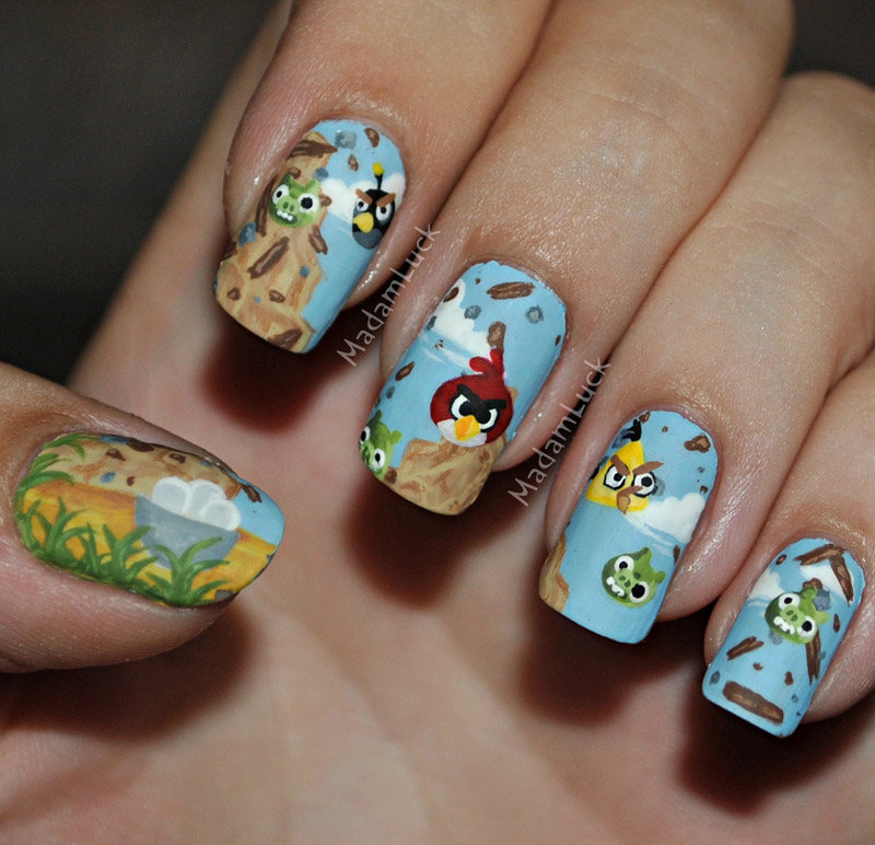 Angry Birds Nail Art by MadamLuck on DeviantArt