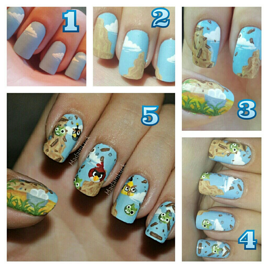 Angry Birds Nail Art-how i did it by MadamLuck on DeviantArt