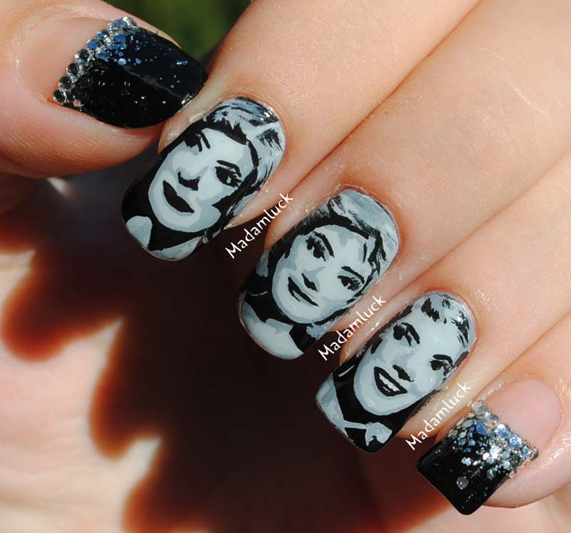 50\'s / 60\'s women inspired nail art by MadamLuck on DeviantArt