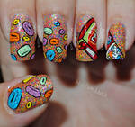 Fruit loops nail art