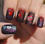 Bloody Halloween Nail Art