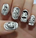 Meme Faces nail art