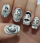 Meme Faces nail art