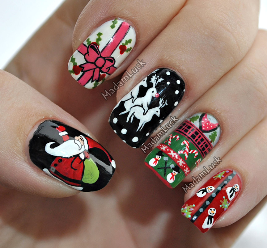 Hand Painted Christmas Nail Art: Christmas Sweater Nail Art By MadamLuck On DeviantArt