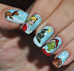 The Grinch who stole chistmas nail art