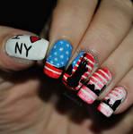 New York inspired nail art